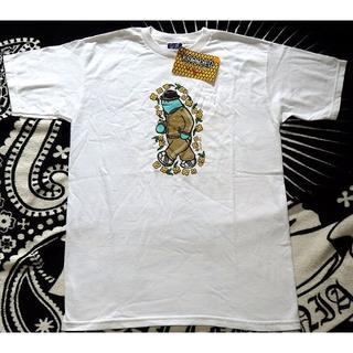 クルキッド(KROOKED)の新品 Krooked ラメプリントTシャツ S ホワイト クルッキド (Tシャツ/カットソー(半袖/袖なし))