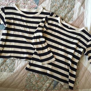 MUJI (無印良品) - 無印 ボーダーTシャツ 100 110 2枚セット