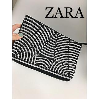 ザラ(ZARA)の♡新品未使用♡ZARA♡ビジュー クラッチバッグ♡(クラッチバッグ)