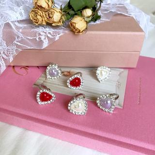 pearl heart bijou ring(リング)