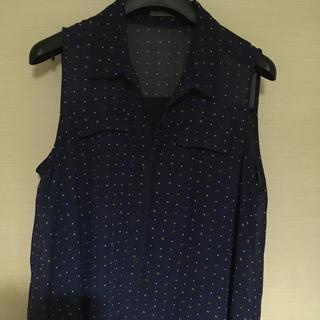 ジーユー(GU)のGU ノースリーブ シフォンシャツ(シャツ/ブラウス(半袖/袖なし))