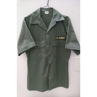 アルファ(alpha)のU.S.ARMY 開襟シャツ 米軍 実物(シャツ)