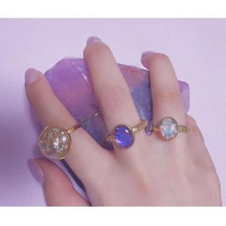 スナイデル(snidel)の【未使用】指輪 リング ゴールド 星 スター ホログラム シルバー ラメ (リング(指輪))