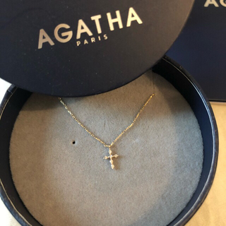 AGATHA クロスネックレス 10K