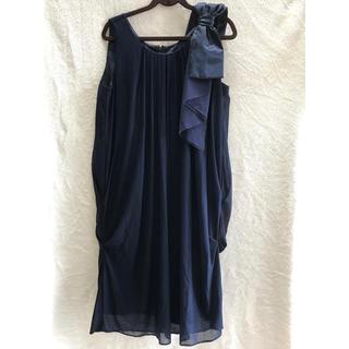 トゥエルブアジェンダ(12Twelve Agenda)のコクーンワンピース ドレス ネイビー(その他ドレス)