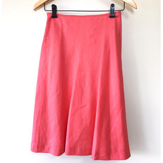 ベルメゾン(ベルメゾン)のリネンスカート(ひざ丈スカート)