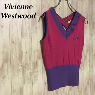 ヴィヴィアンウエストウッド(Vivienne Westwood)の美品 VivienneWestwood サマーニット トップス(タンクトップ)