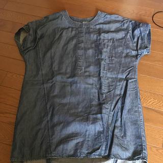 ジーユー(GU)のGUデニムシャツ(シャツ/ブラウス(半袖/袖なし))