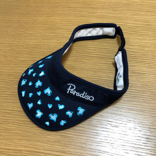 パラディーゾ(Paradiso)の美品 Paradiso パラディーゾ テニス サンバイザー 帽子 ゴルフ(ウェア)