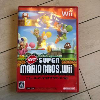 ウィー(Wii)のwii ニュースーパーマリオブラザーズ 中古(家庭用ゲームソフト)