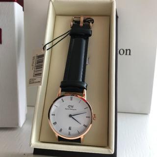 ダニエルウェリントン(Daniel Wellington)のDW DAPPER 34MM 青針 日付 ブラック(腕時計(アナログ))