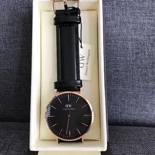 ダニエルウェリントン(Daniel Wellington)のDW 40MM メンズ腕時計 シンプル ブラック(腕時計(アナログ))