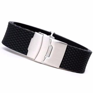 腕時計用 Dバックル付ラバーベルト 20mm(ラバーベルト)