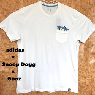 スヌープドッグ(Snoop Dogg)の2XL 新品 アディダス × スヌープドッグ × ゴンザレス コラボ ポケT 白(Tシャツ/カットソー(半袖/袖なし))