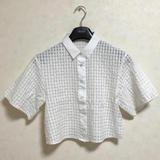 オープニングセレモニー(OPENING CEREMONY)のOpening Ceremony シースルー シャツ 白シャツ(シャツ/ブラウス(半袖/袖なし))