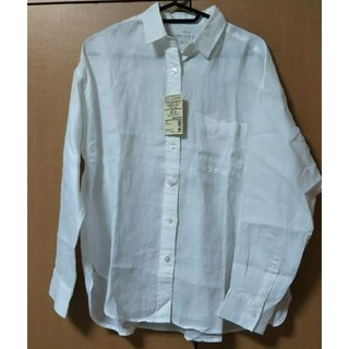 MUJI (無印良品) - 無印良品 フレンチリネン ワイドシャツ