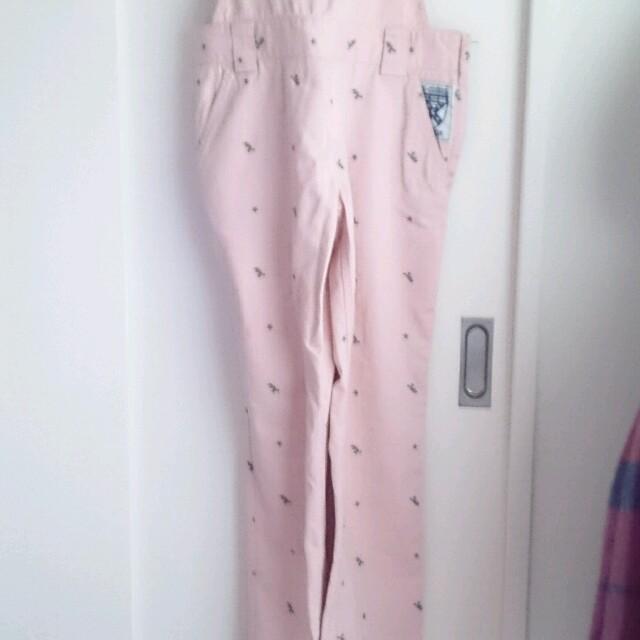 X-girl(エックスガール)のオーバーオール ピンク X-girl レディースのパンツ(サロペット/オーバーオール)の商品写真