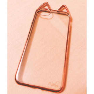 Navi 猫耳 ねこみみiPhoneケース ピンクゴールド(iPhoneケース)