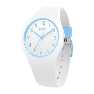 アイスウォッチ(ice watch)の新品 ICE キッズ腕時計 防水 014425 ホワイト×ブルー 軽量(腕時計)