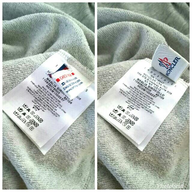 MONCLER(モンクレール)のモンクレール 肩ボタン2wayチュニック ワンピース ワッペン グレー VERY レディースのトップス(カットソー(半袖/袖なし))の商品写真