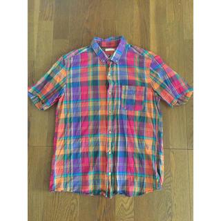GU - 送料無料 美品 2点セット GU チェック シャツ 半袖 七分袖