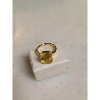 大粒 天然石 レモンクォーツ 9〜13号までサイズ展開(リング(指輪))