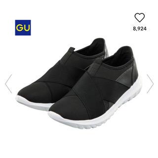 ジーユー(GU)のGU スポーツスリッポン ブラック M  (スリッポン/モカシン)