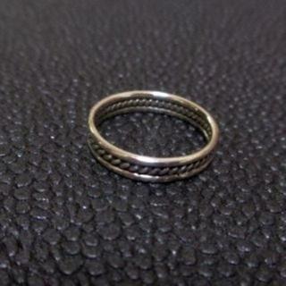 094 SILVER925 ワイヤーワークピンキーリング7号 シルバー925製 (リング(指輪))