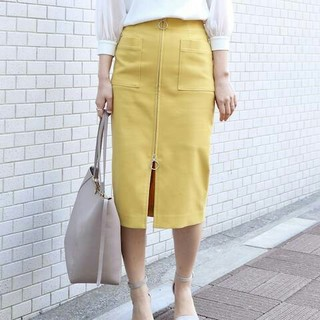ノーブル(Noble)のノーブル  T/Cフープジップタイトスカート 34(ひざ丈スカート)