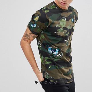 ASOSコモプリント刺繍 モードTシャツ
