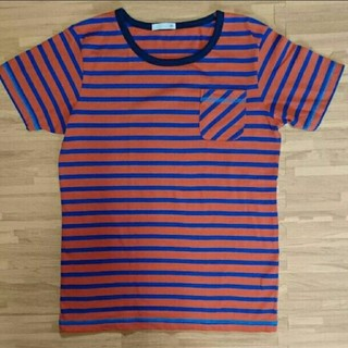 ジーユー(GU)のGU ボーダー ポケット付 Tシャツ KIDS 150(Tシャツ/カットソー)