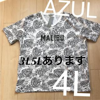【即購入可】AZUL 4L ボタニカル柄 Tシャツ