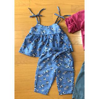 シマムラ(しまむら)のmamaraku 花柄キャミ×パンツ セットアップ(Tシャツ/カットソー)