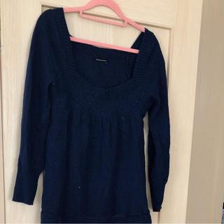 アバハウスドゥヴィネット(Abahouse Devinette)のアバハウスの紺色セーター(ニット/セーター)