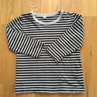 MUJI (無印良品) - サイズ100 男の子 長袖 Tシャツ MUJI ボーダー柄