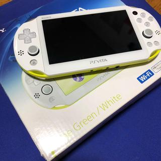 プレイステーション(PlayStation)のpsvita limegreen(携帯用ゲーム本体)