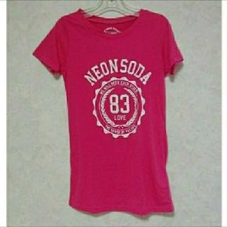 ネオンソーダ(Neon Soda)のNeonSoda ネオンソーダ レディース Tシャツ ピンク(Tシャツ(半袖/袖なし))