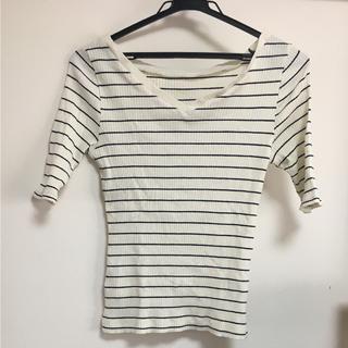 アズール(AZZURE)のAZUL ボーダートップスS(Tシャツ(半袖/袖なし))