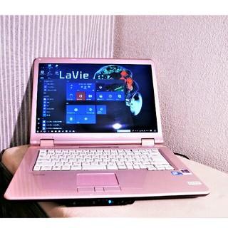 エヌイーシー(NEC)の白ピンク メモリ3GB Windows10 イラレ フォトショ Office(ノートPC)