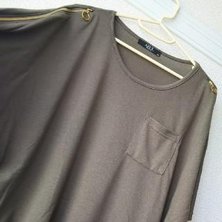 アズール(AZZURE)の肩空きTシャツ(Tシャツ(半袖/袖なし))