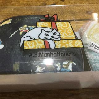 エーエスマンハッタナーズ(A.S.Manhattaner's)のマンハッタナーズ  猫 ポーチ タオル セット 新品未使用(ポーチ)