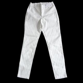 ジーユー(GU)の新品 GU ジーユー クロップド レギンス パンツ 白 S レディース (クロップドパンツ)