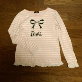 バービー(Barbie)のボーダー長袖Tシャツ 140cm(その他)