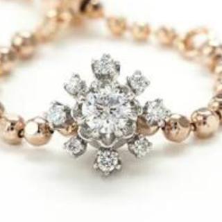 きらきらきららさま専用 アベリ のダイヤモンドチェーンリング(リング(指輪))