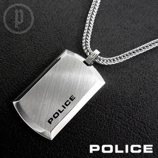 POLICE - 【美品】POLICE ポリス PURITY プレートネックレス