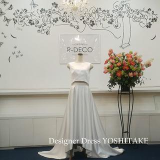 ウエディングドレス(パニエ無料) キュートなセパレートドレス 二次会用ドレス(ウェディングドレス)