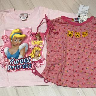 ディズニー(Disney)のディズニーのTシャツ2枚セット  プーさんとプリンセス(Tシャツ/カットソー)