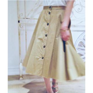 プラージュ(Plage)のPlage スラブサテン フロントボタンスカート(ひざ丈スカート)
