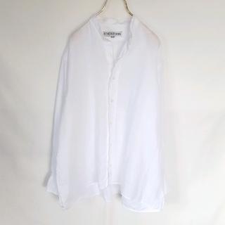 インディヴィジュアライズドシャツ(INDIVIDUALIZED SHIRTS)のUSA製★INDIVIDUALIZED SHIRTS リネン バンドカラーシャツ(シャツ)