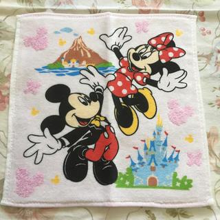 ディズニー(Disney)の非売品!ミッキー&ミニーハンドタオル(ハンカチ)